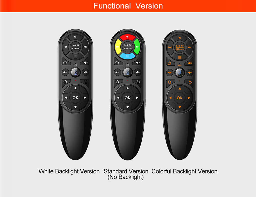 Q6 2.4G Wireless Air Mouse Remote Controller - Black Standard Edition