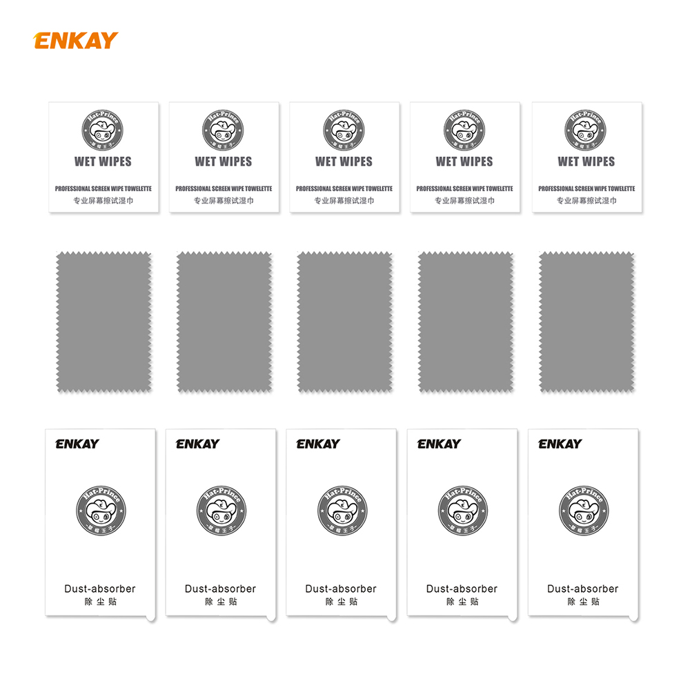 ENKAY Tempered Glass Screen Protector for iPhone 12 / 12 Pro 6.1 inch 5PCS - Black