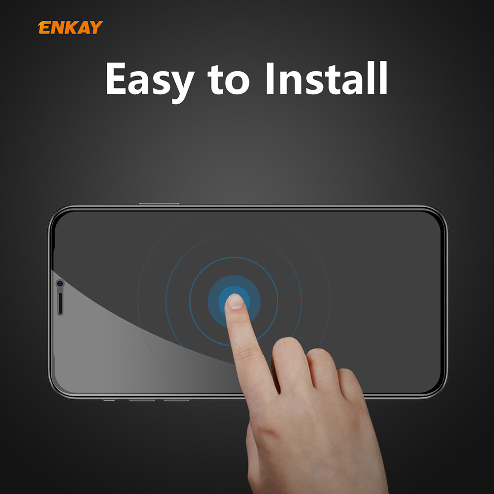 ENKAY Tempered Glass Screen Protector for iPhone 12/12 Pro 6.1 inch 2PCS - Black