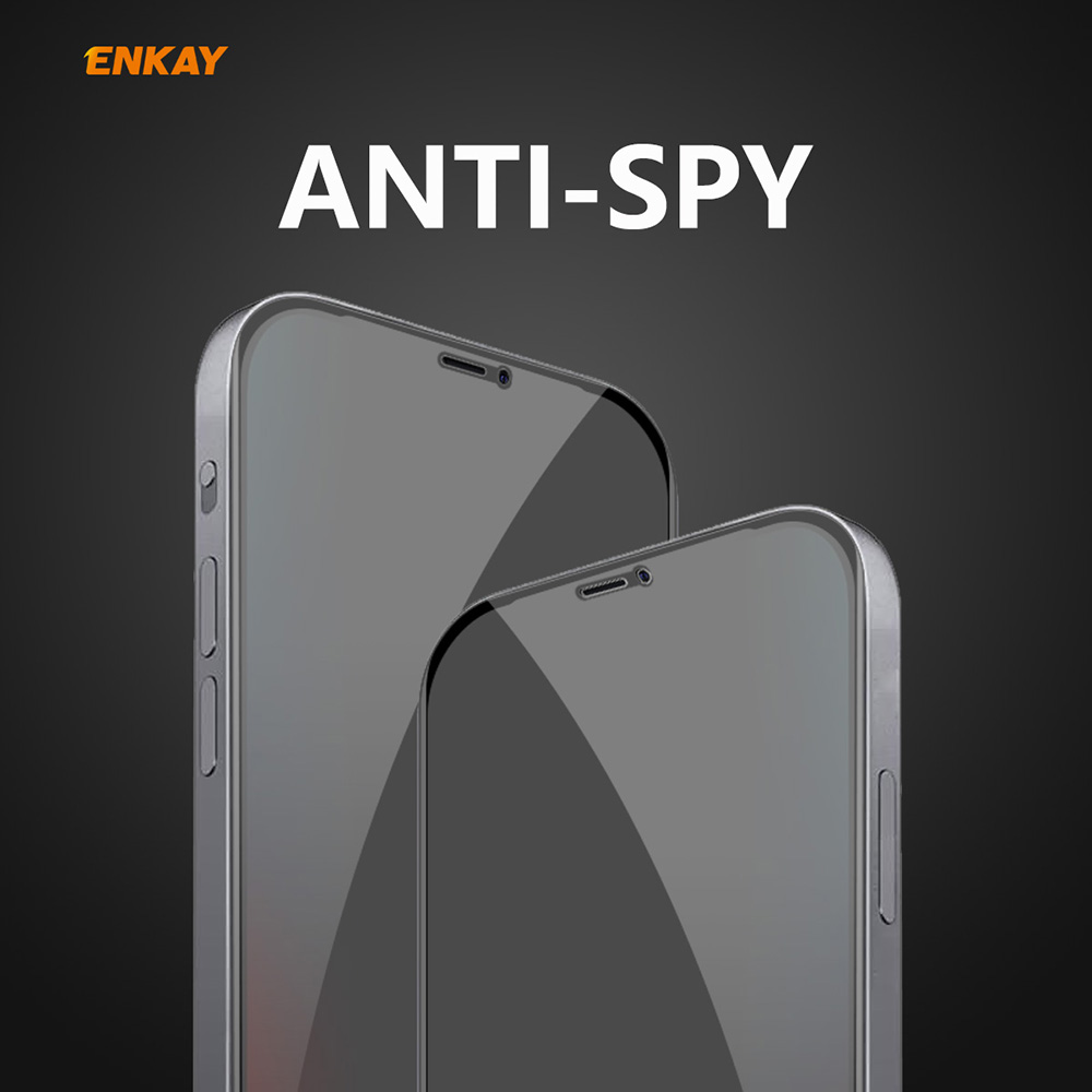 ENKAY Tempered Glass Screen Protector for iPhone 12 / 12 Pro 6.1 inch - Black