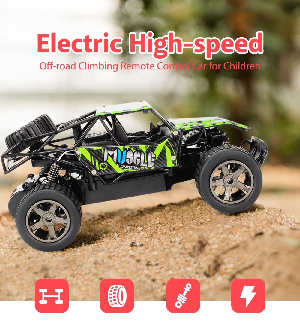 1:18 2.4G RC Off-road Car Toy - Green