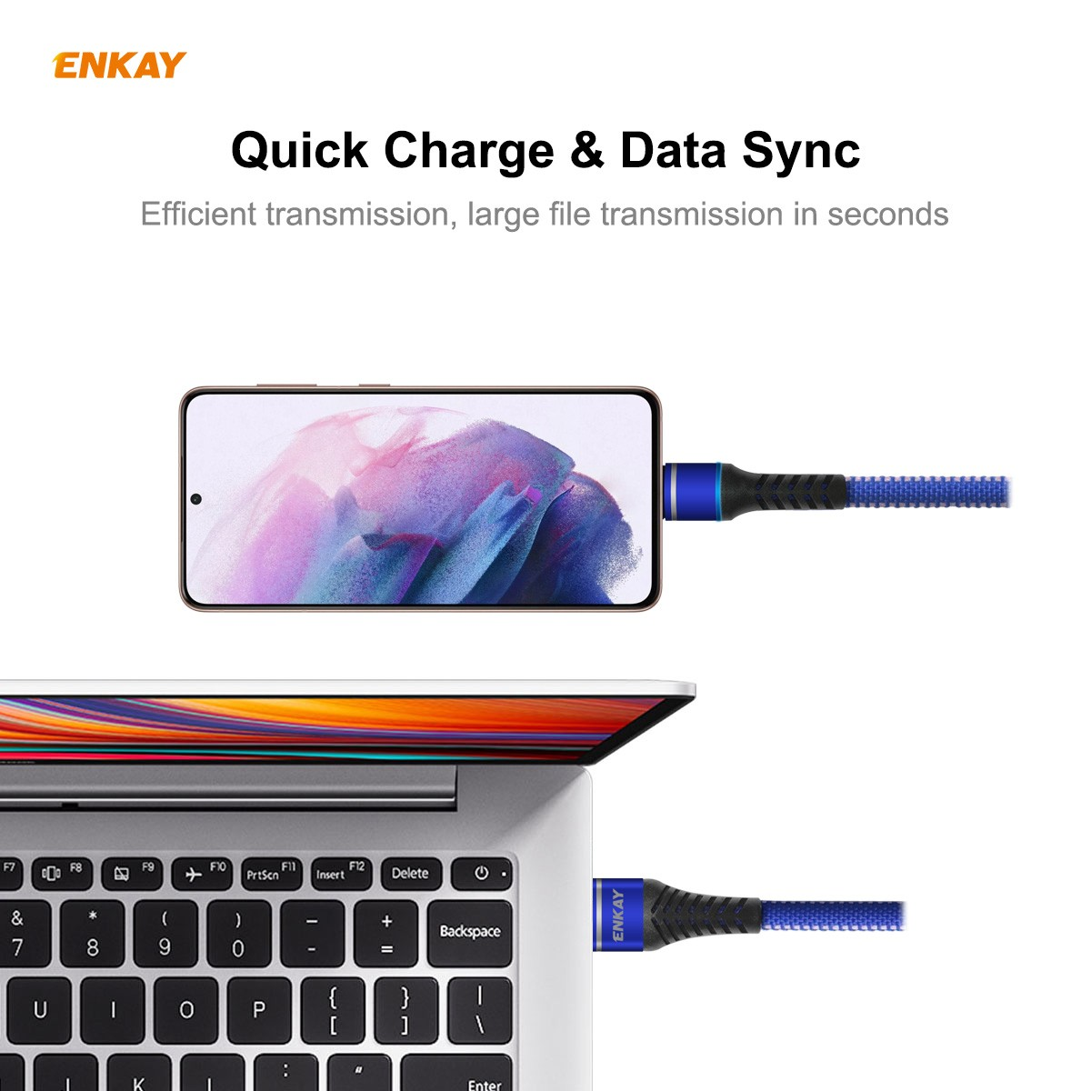 ENKAY ENK-CB107 USB 3.0 to Type-C Data Cable 1M - Black