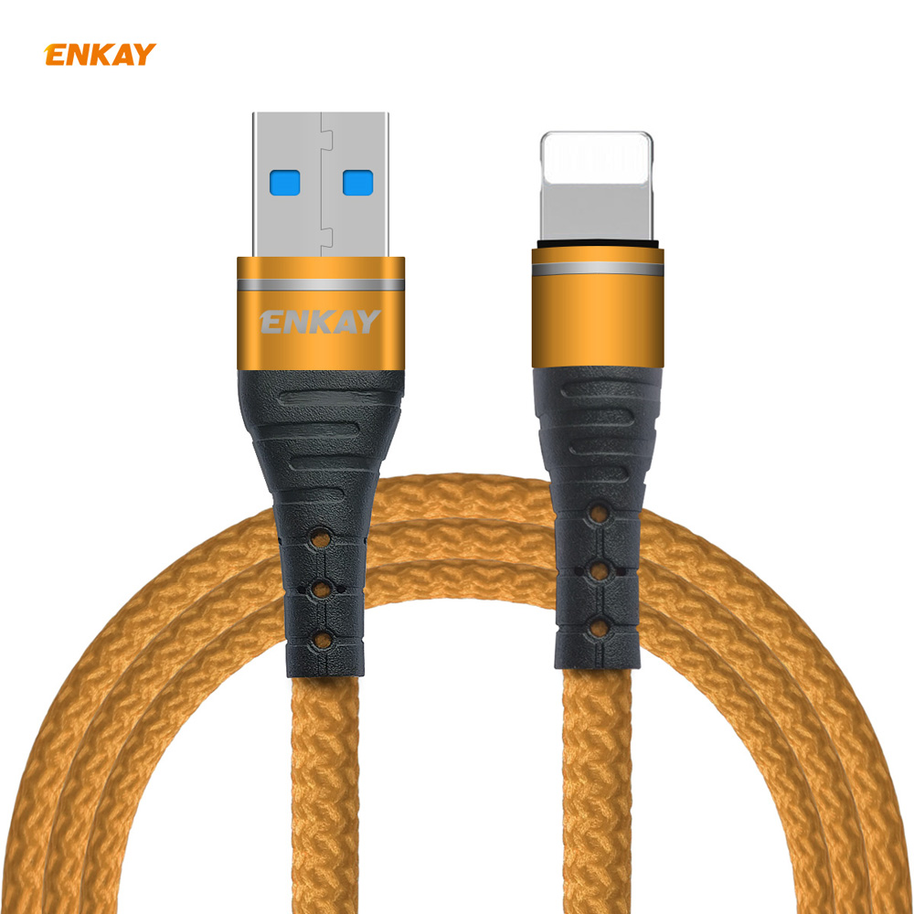 ENKAY ENK-CB208 USB 3.0 to 8-pin Data Cable 1M - Golden