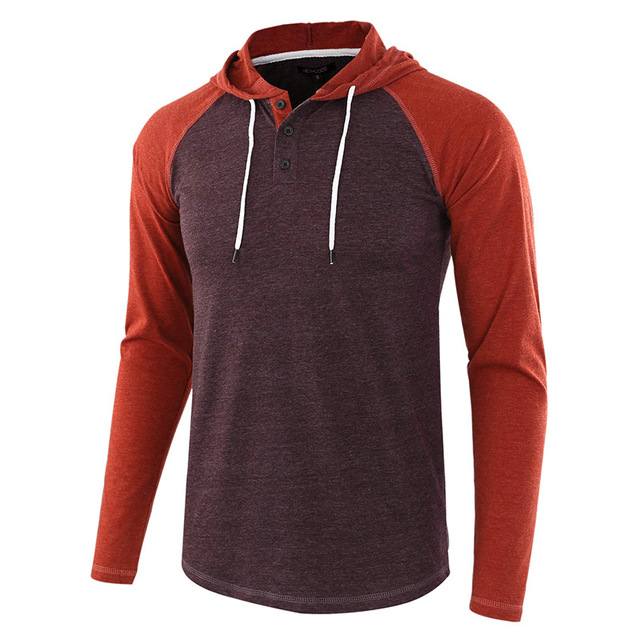Men Long Sleeve T-shirt European and American Sweatshirt Plus Size Sweater Hoodie - Multi-B 2XL