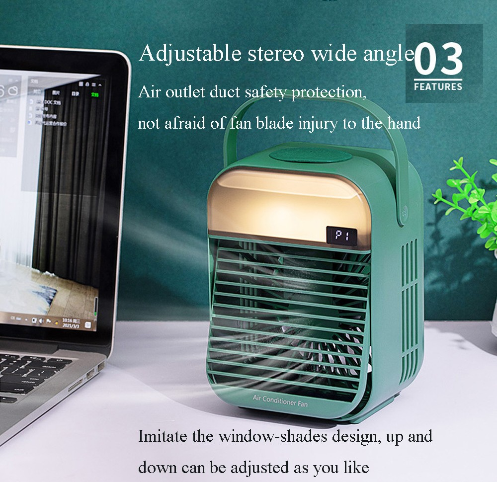 Mini Water Cooling Fan Portable Desktop USB Small Air Conditioning Fan - White