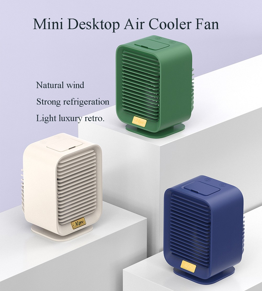 Mini Desktop Office Air Cooler Portable Mobile Air Conditioner USB Water Cooling Electronic Fan - Deep Green