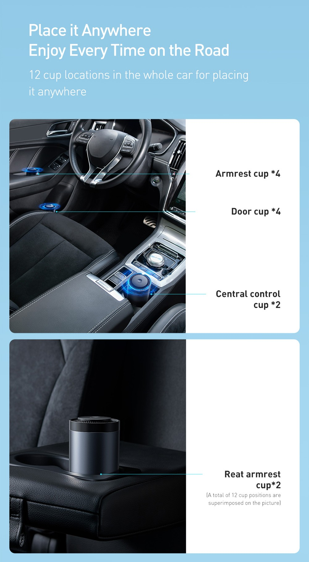 Baseus Corrugated Home Car Air Freshener Cup Holder Aromatherapy Activated Carbon Solid Perfume Ointment Interior Decoration Formaldehyde Removal Aromatherapy - Silver