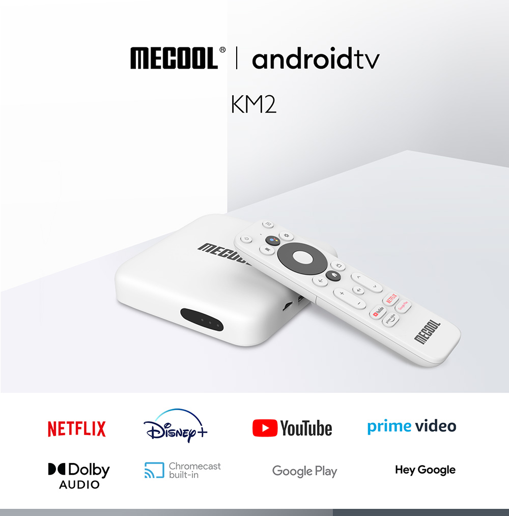 MECOOL KM2 Android 10 TV Box - White 2GB RAM + 8GB  eMMC  ROM  US plug