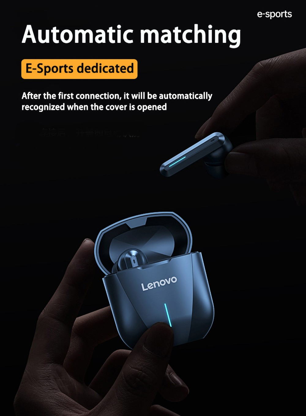 Lenovo XG01 Wireless Bluetooth Earbuds Headphone No Delay Gaming Game Earphone Headset High Quality Long Battery Life - White