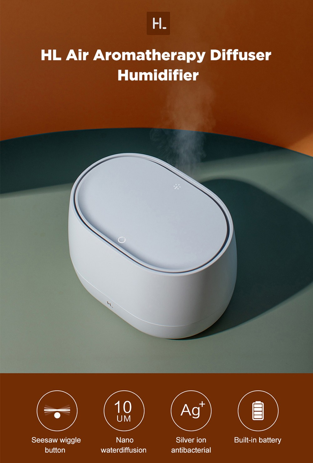 HL Aroma Diffuser Pro (without Essential Oil) from Youpin - White