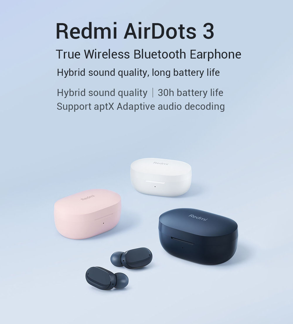 Xiaomi Redmi Airdots 3 TWS Wireless Bluetooth Headphone - Midnight Blue