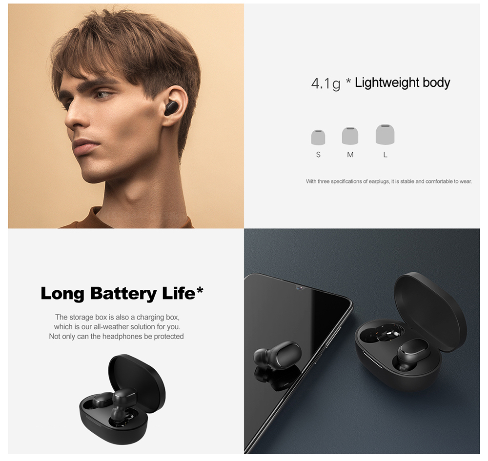 Xiaomi Redmi AirDots 2 TWS Wireless Bluetooth Headphone - Black