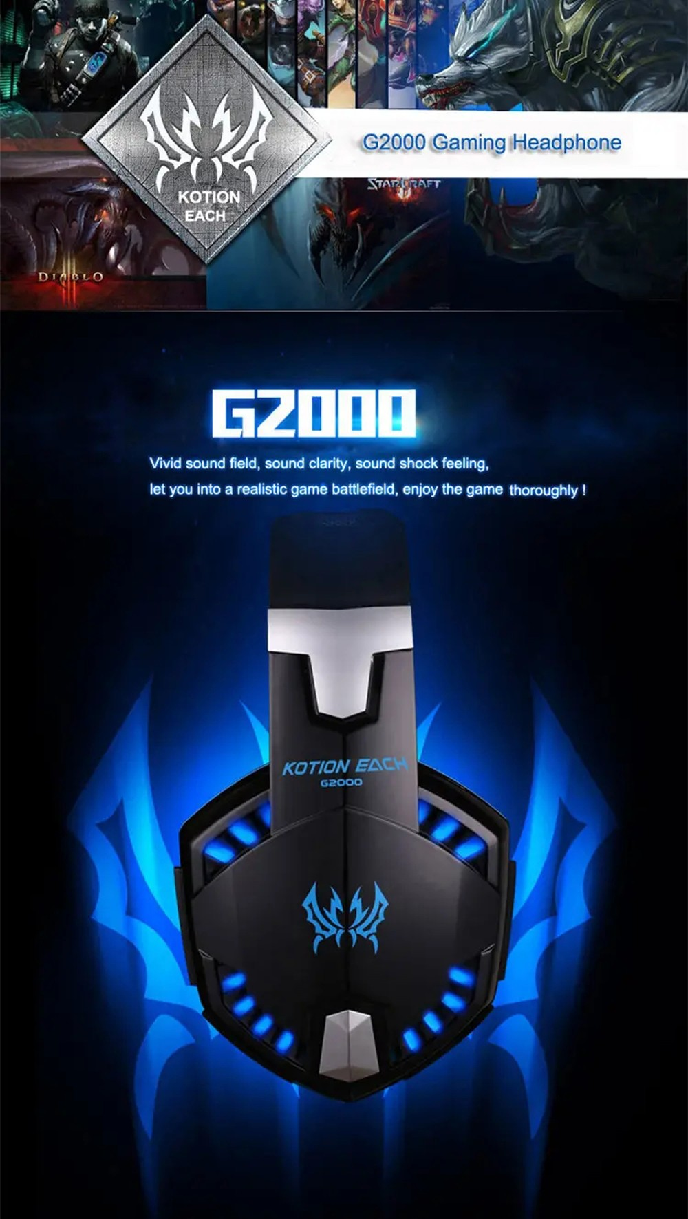 KOTION EACH G2000 PS4 Gaming Headset - Red