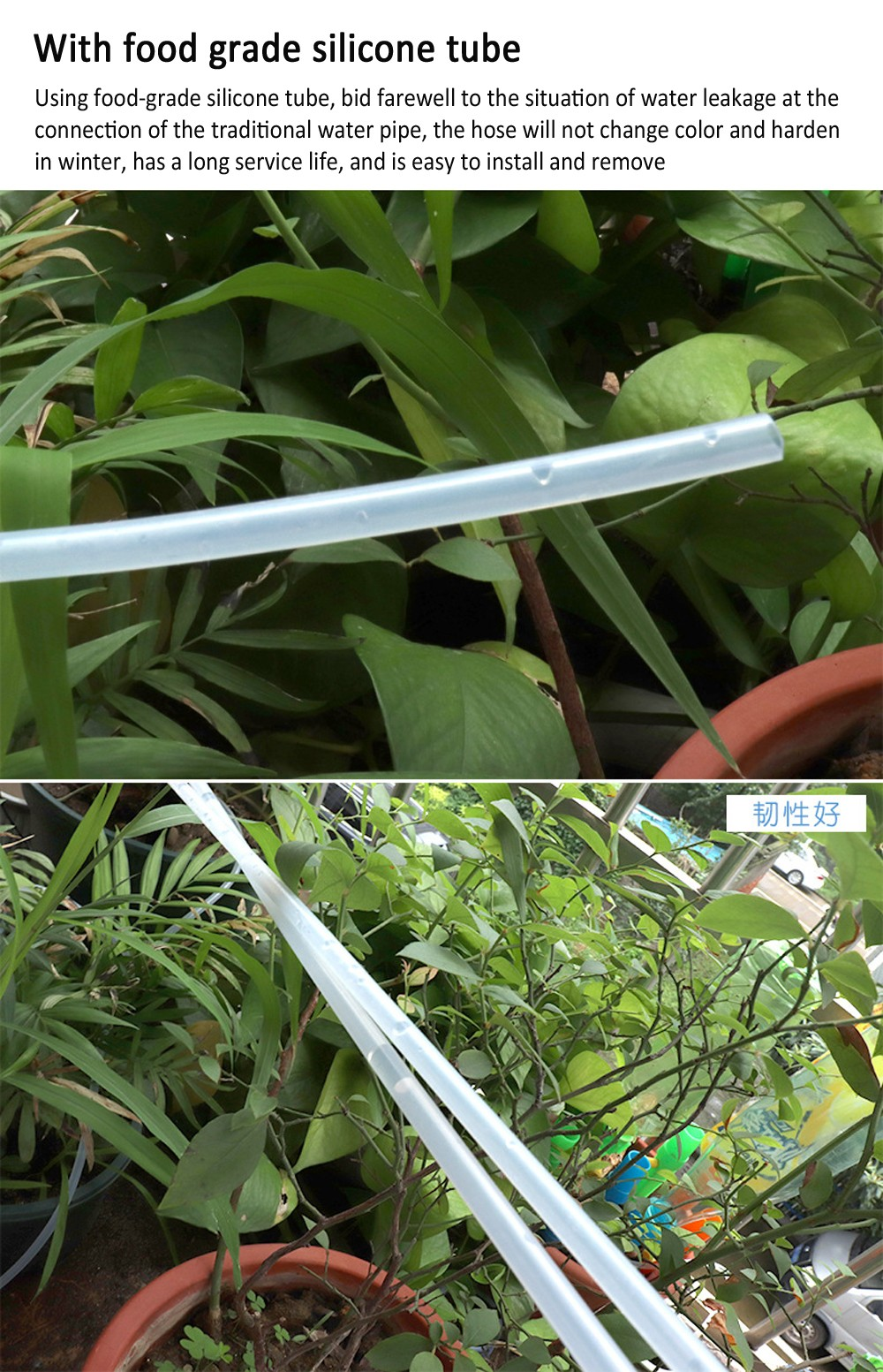 Solar Automatic Splayer Watering Device Smart Lazy Potted Plant Drip Irrigation Replenishment Timer Garden Irrigation Tool - White Package 1 (with Drop Arrow)