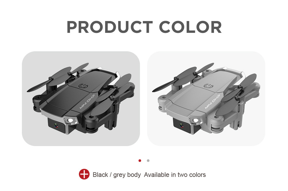 DH7 HD RC Folding Quadcopter Drone Toy - Gray 5 Million Dual Cameras