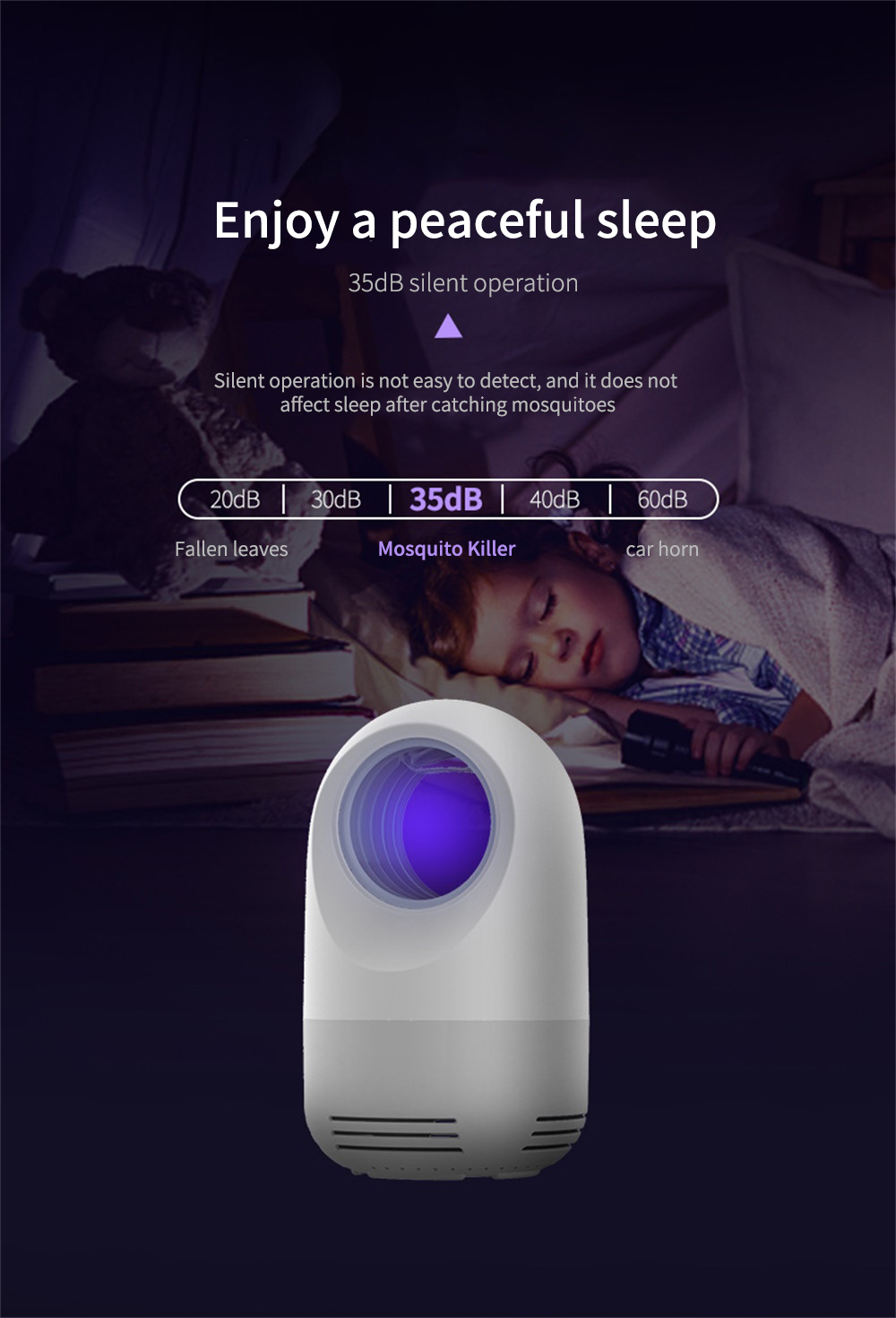 Small Q Photocatalyst Mosquito Repellent Light Home Silent Mosquito Catcher USB Charging Inhaled Mosquito Lamp - Lipstick Pink