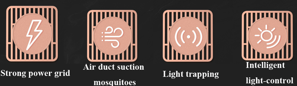 Silent Suction Tempering Mosquito Killer Trap Home Rechargeable Intelligent Electronic Mosquito Killer Lamp - Black
