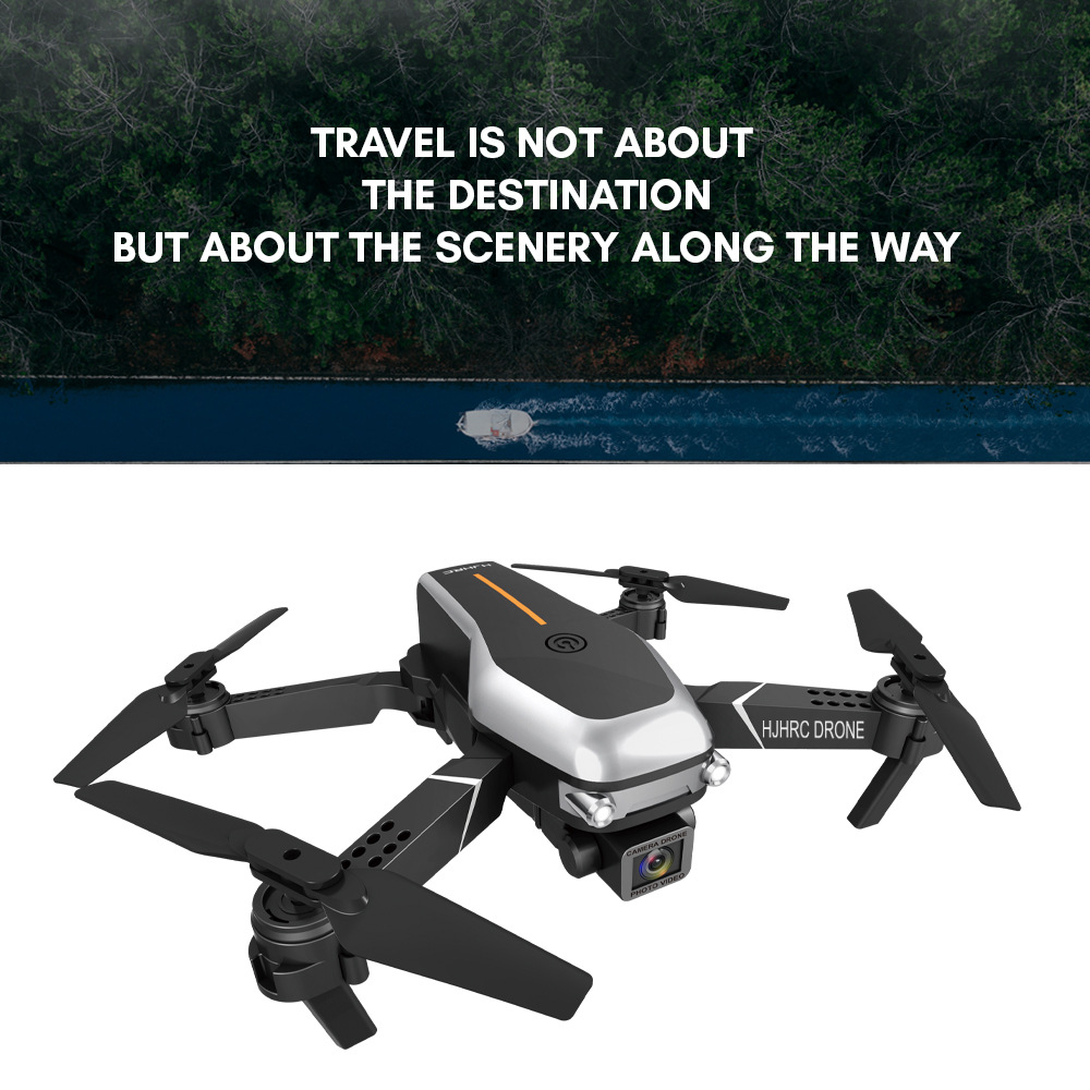 HJ95 FPV RC Folding Quadcopter Drone Toy - Black 1080P