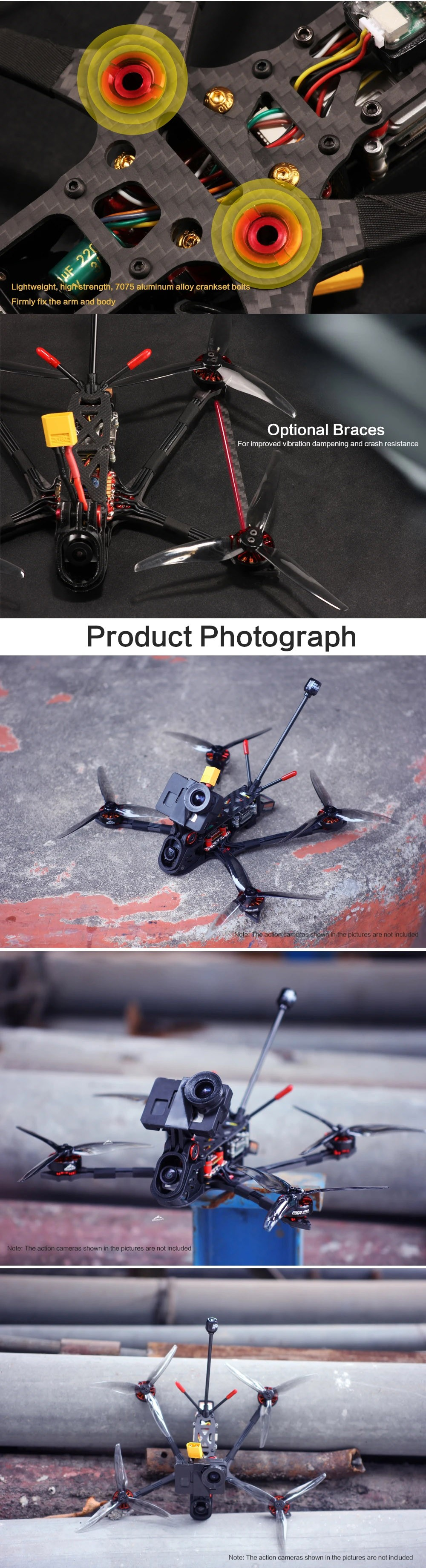 HGLRC Rekon 5 Long Range FPV Racing Drone - Black PNP (4S)