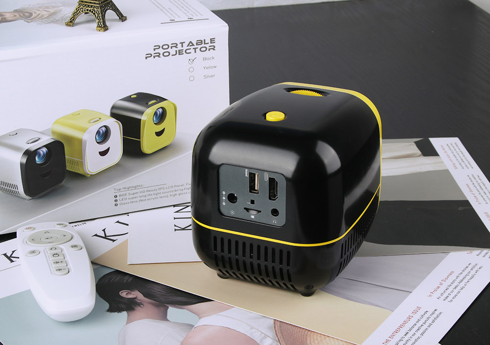 Mini Portable Projector - Yellow US Plug