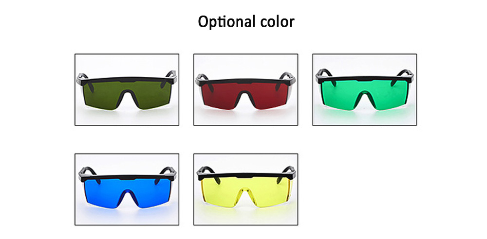 Laser Beautiful Comfortable Safety Glasses - Red Wine