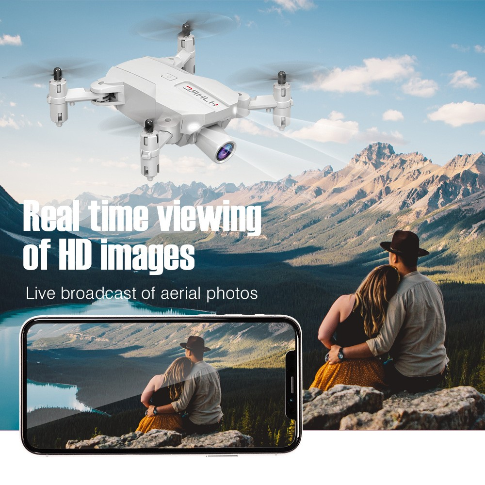 HJ66 RC Quadcopter FPV Drone Toy - Black Fixed Height 1080P WiFi