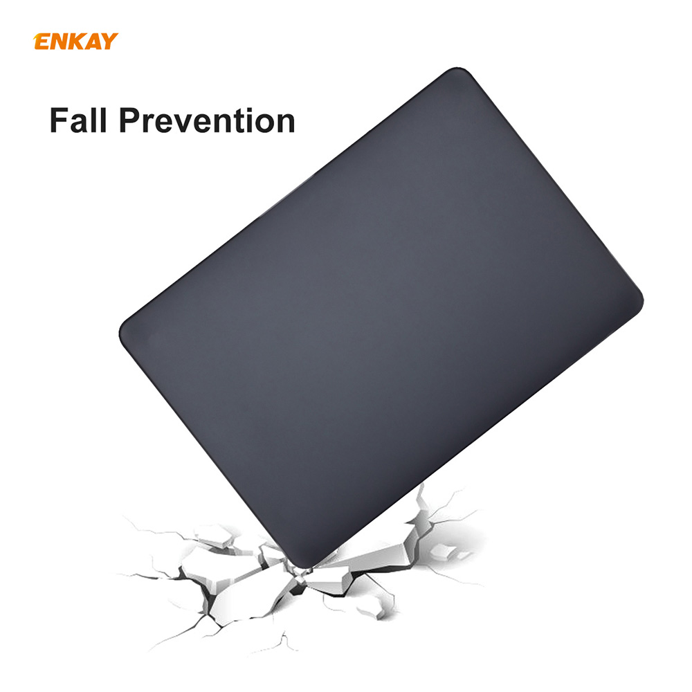 ENKAY Hat-Prince 3-in-1 Laptop Notebook Case for MacBook Pro 13.3 inch A1706/A1989/A2159 US Version - Black