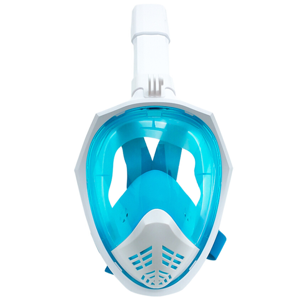 Silicone Full Dry Diving Mask Foldable Snorkeling Swimming Mask - Gray L/XL