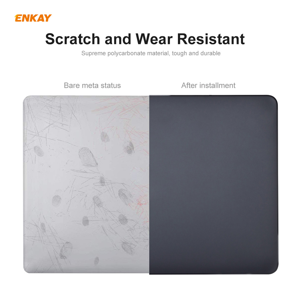 ENKAY Hat-Prince 3-in-1 Laptop Case without Touch Bar for MacBook Pro 13.3 inch A1708 EU Version - White