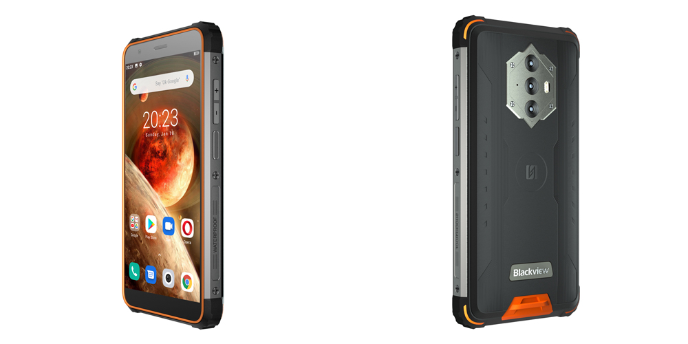 Blackview BV6600 IP68 Waterproof 8580mAh 4G Rugged Smartphone Octa Core 4GB + 64GB 5.7 inch FHD Mobile Phone 16MP Camera NFC Android 10 - Green For European Union