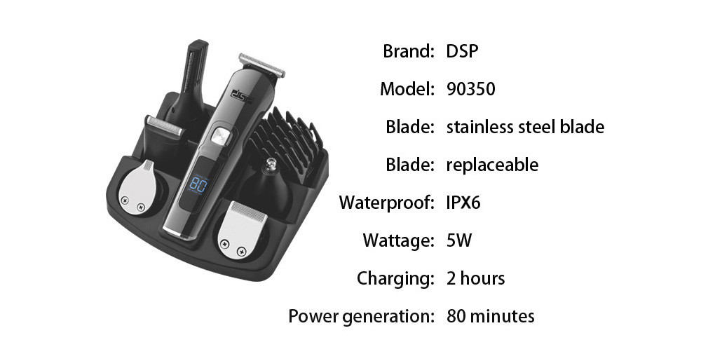 DSP 90350 Electric Hair Trimmer - Black