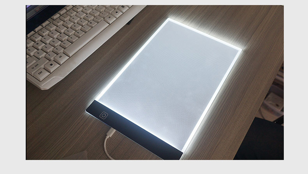A4 LED Graphics Tablet Drawing Board 3 Gears Dimmable Painting Pad Board Children Educational Toy Gift - Transparent A4 Stepless Dimming+USB Cable