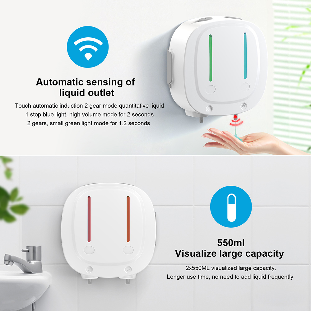 LZD-V11 Mould Wall Mounted Soap Dispenser - White