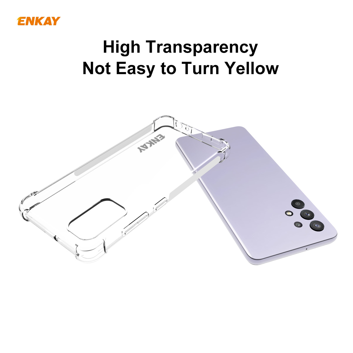 ENKAY Hat-Prince ENK-PC108 Phone Case for Samsung Galaxy A32 4G/Samsung Galaxy A02 - Transparent Samsung Galaxy A32 4G