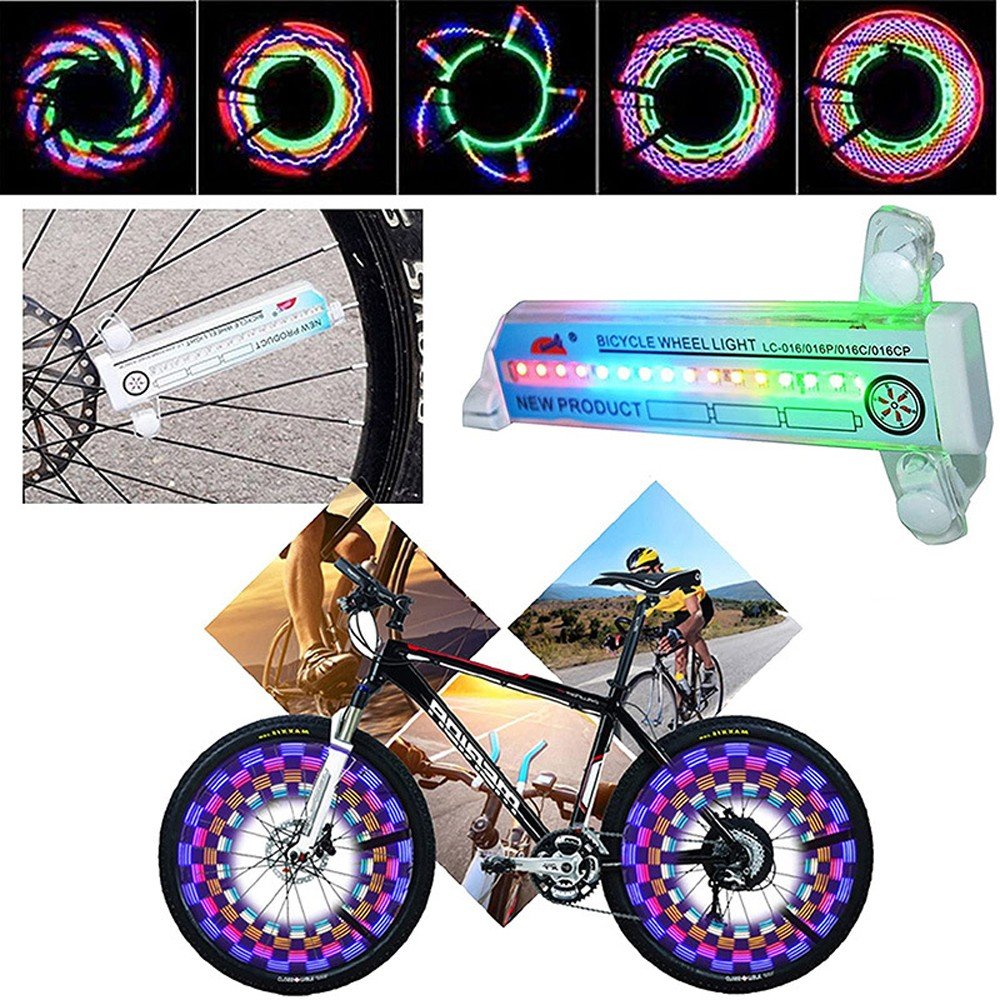 32LED Bicycle Hot Wheel Colorful Rider Cycling Equipment Silicone MTB Wheel Light Spoke Light Frog Light - White
