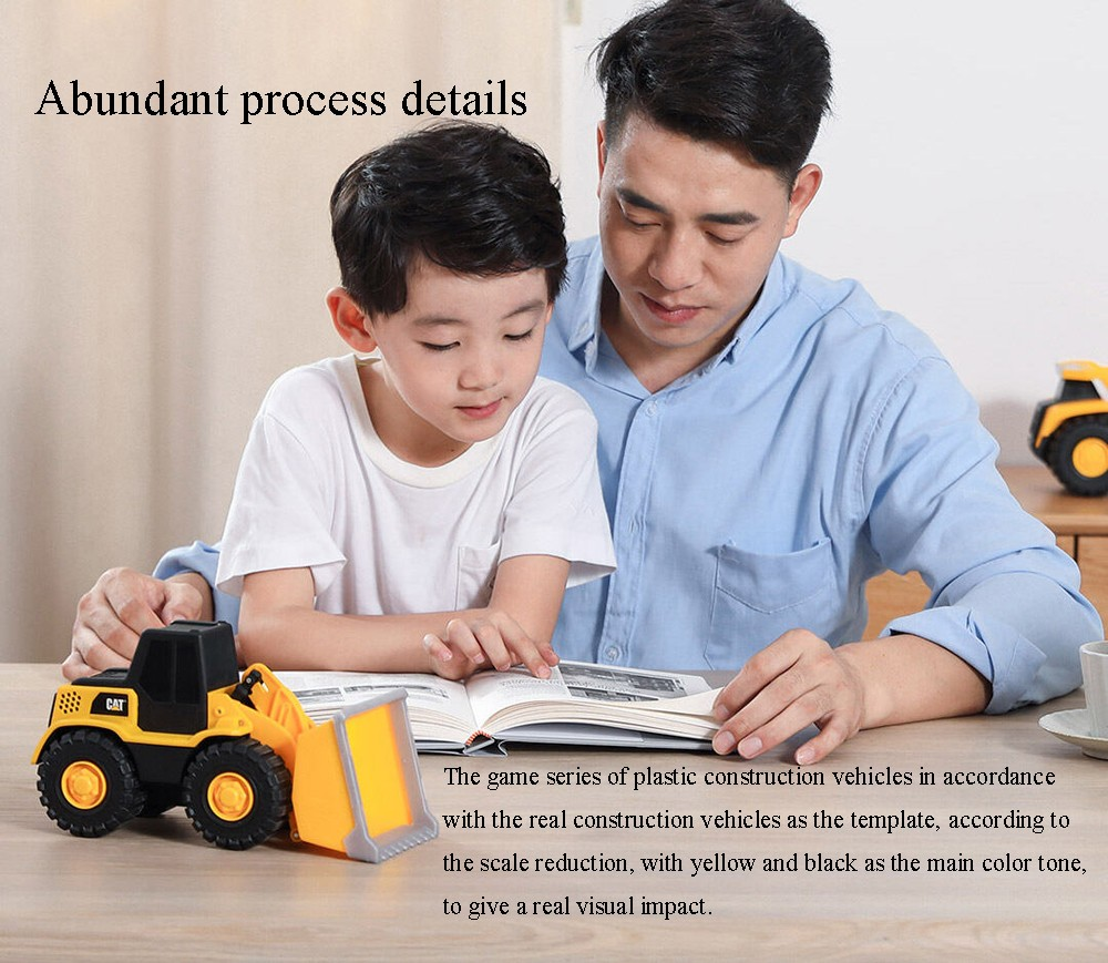 Children RC Engineering Vehicle Car Toy from Youpin - Sun Yellow Bulldozer Car 82287