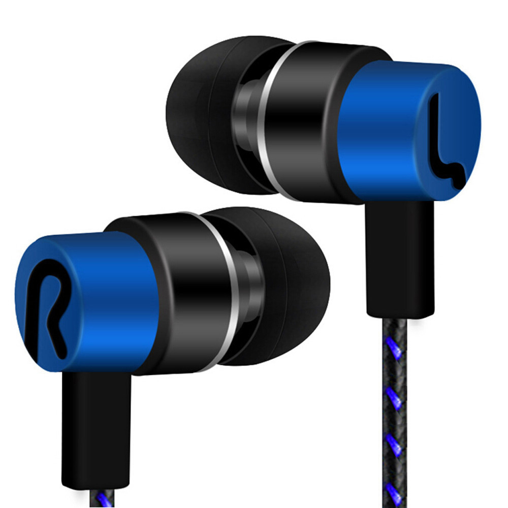 Universal Stereo In-Ear Bass Headphone 3.5mm Wired Earphones for Mobile Bluetooth Music - Yellow