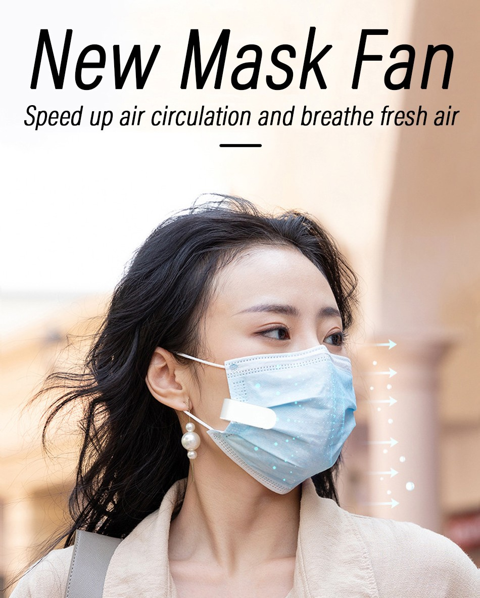 Electric Mask Fan USB Mini Portable Summer Anti-sultry - White