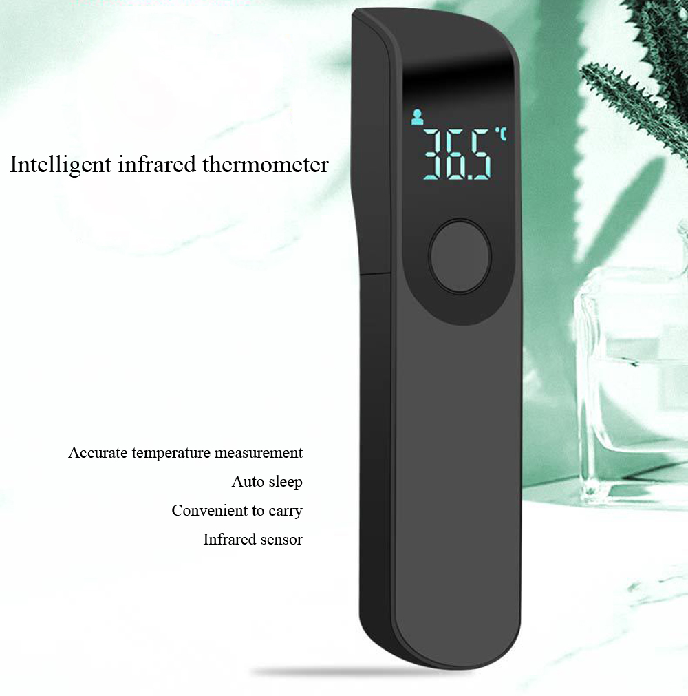 Forehead Thermometer Non-contact Infrared Mini Electronic Thermometer - Black