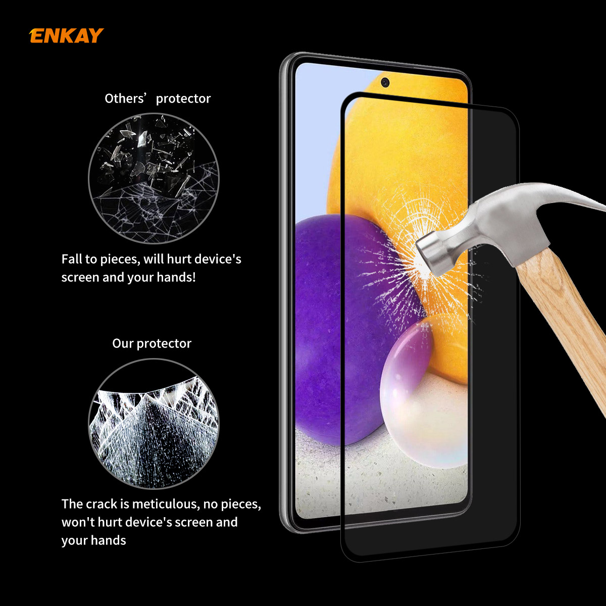 ENKAY Hat-Prince Screen Protector for Samsung Galaxy A72 5G/Samsung Galaxy A52 5G 10PCS - Black Samsung Galaxy A72 5G