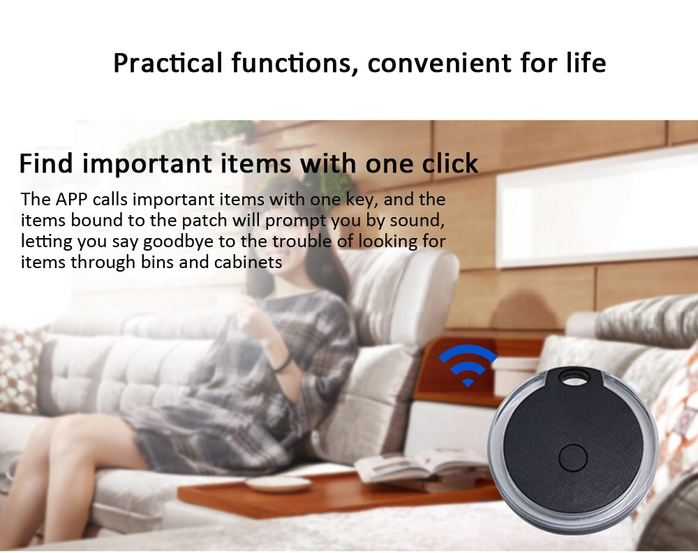 Bluetooth Anti-lost Device Key Luggage Tracking Finder Mobile Phone Bluetooth Two-way Alarm Pet Anti-lost Alarm - Rose Red