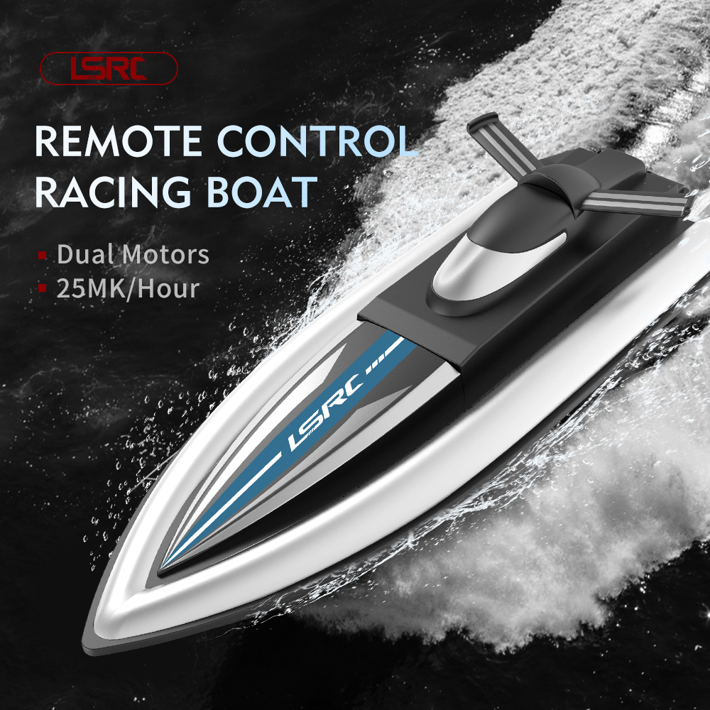 RC Boat Toy - Black Two Battery