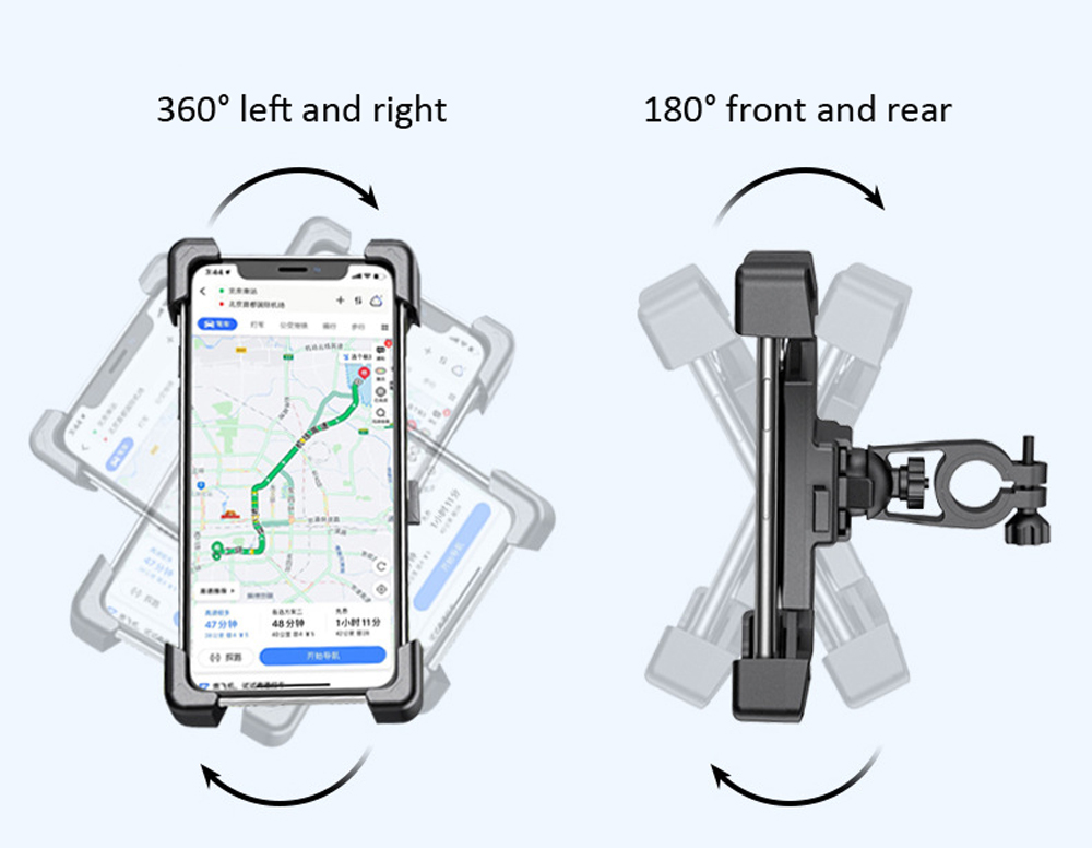 Four-claw Electric Scooter Stand Motorcycle Mobile Phone Bracket Bicycle Navigation Smartphone Holder - Black