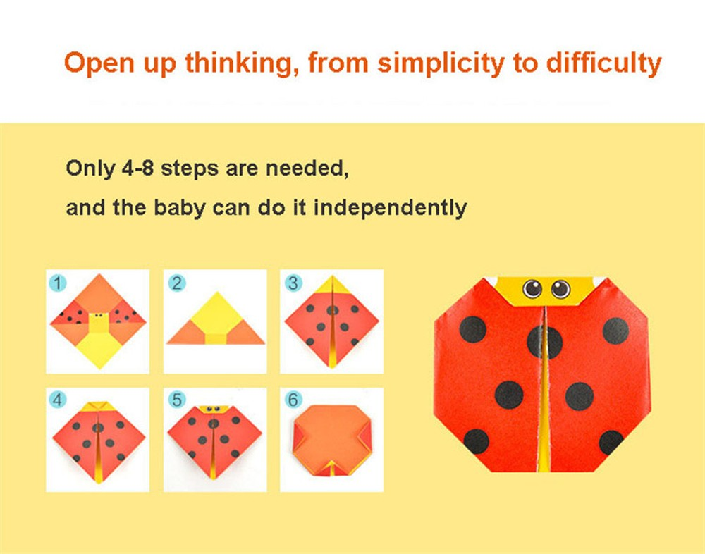 Children Origami Paper Book for Animal Pattern 3D Puzzle DIY Folding Toy - Multi-A