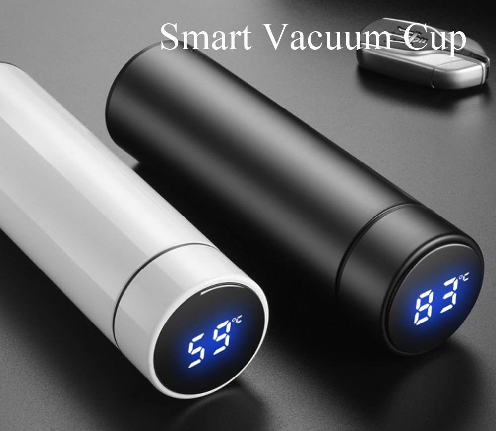 Smart Vacuum Cup Simple Stainless Steel Water Cup - Red