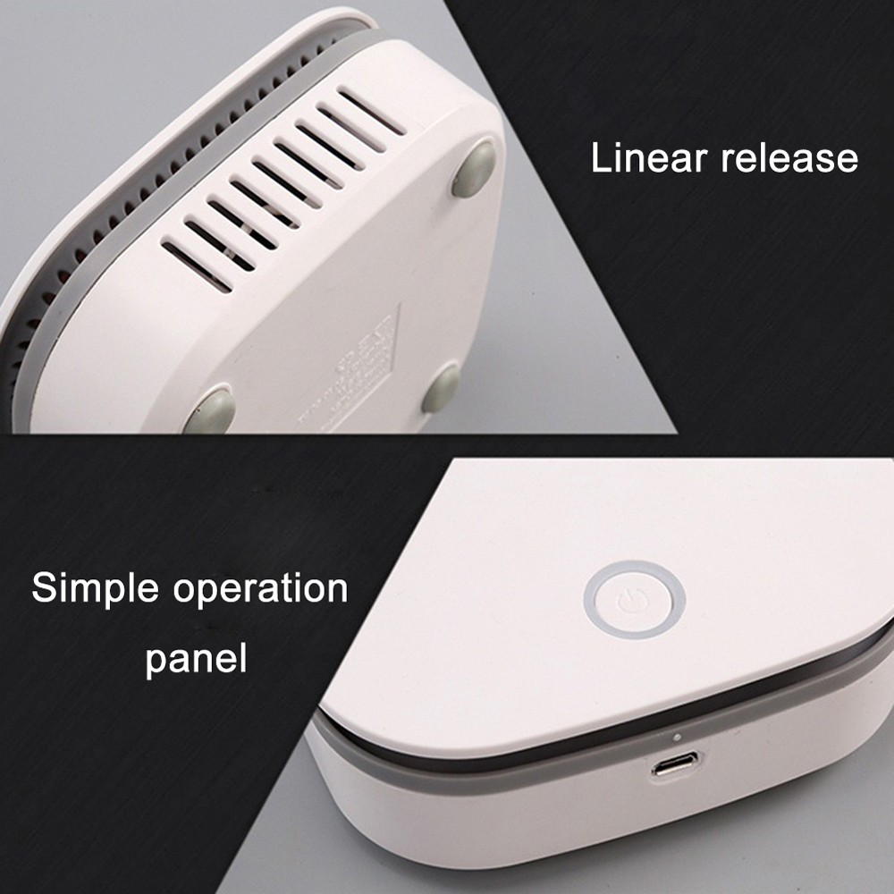 Portable Air Purifier Ozone Generator O3 Negative Ion Deodorizer Sterilizer Odor Remover Eliminating with Timer 2 Modes Ozone Machine for Home Car Office - White