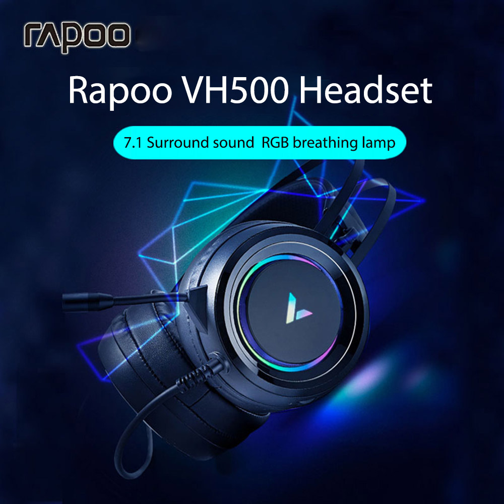 Rapoo VH500 Wired Headset - Black