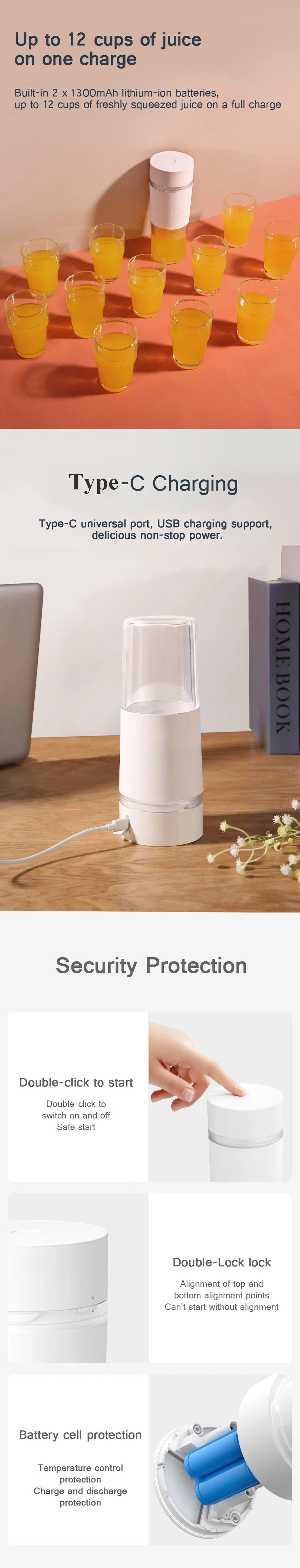 Xiaomi Portable Juicer Cup 300ML - White