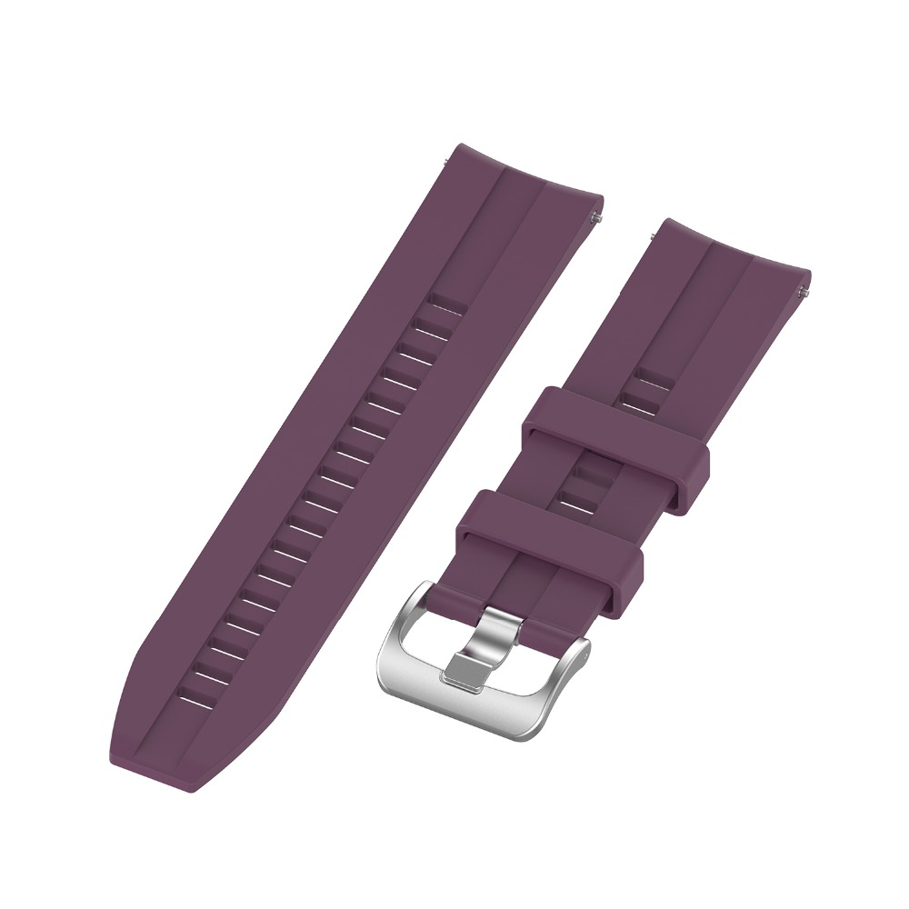 TAMISTER Smart Watch Plaid Elegant Silicone Strap Wristband 20mm for Haylou LS02 - Purple