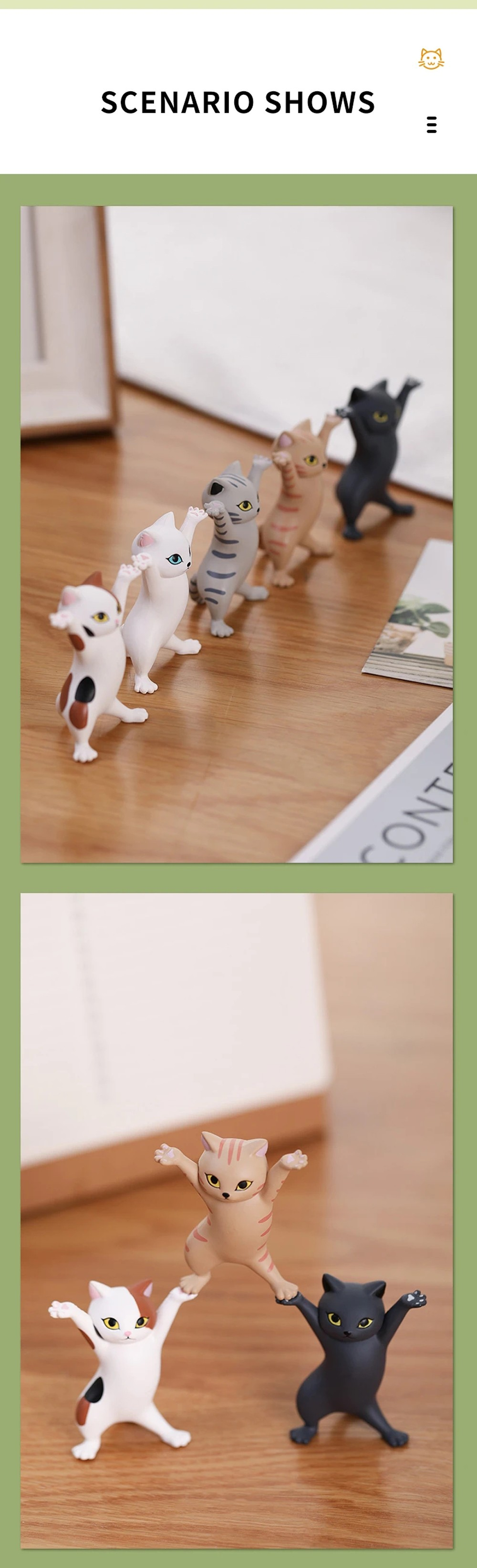 Dancing Cat Toy - White